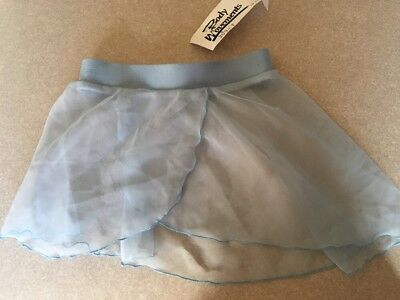 NWT BLUE POLY CHIFFON Toddler Dance Skirt Ballet  Body Movements USA Spandex