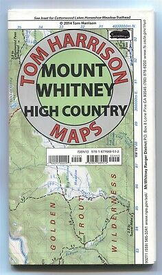 Tom Harrison Trail Map MOUNT WHITNEY HIGH COUNTRY California 2014