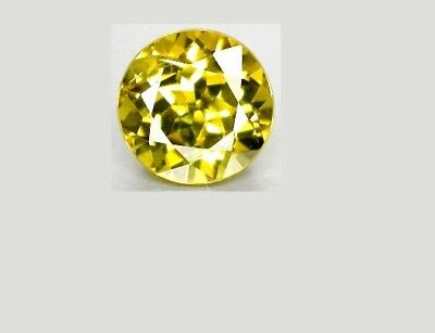 5 mm Round Intense Canary Grossular Mali Garnet Garnet Diamond Cut VVS Gem AAA