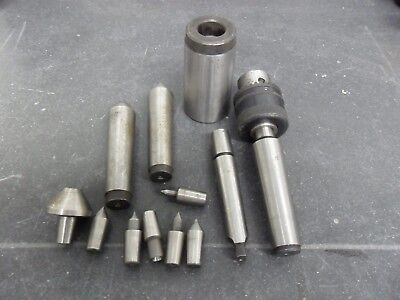Lot of Dead Centers Tool Holders, Drill chuck--- Machinist Tooling --FAST SHIP!!