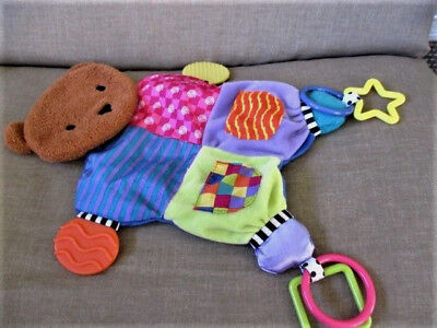 Blanket Teether Bear plush with activities NEW