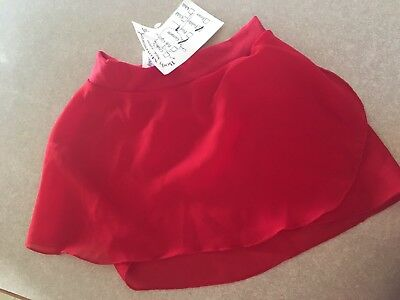 RED Georgette TODDLER Dance Skirt Ballet Body Movements USA Spandex NWT