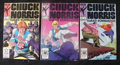 CHUCK NORRIS KARATE KOMMANDOS lot Marvel Star Comics 1,2,3