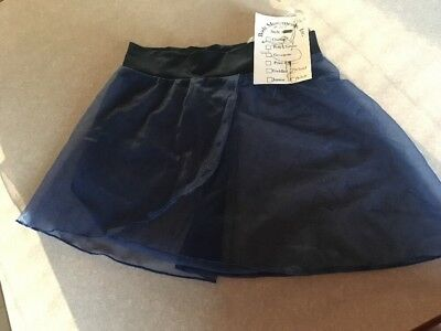 Dark BLUE Georgette TODDLER Dance Skirt Ballet Body Movements USA Spandex NWT