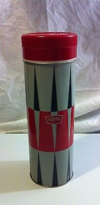 Vintage King Seeley Quart Thermos Wide Mouth~Harley Quinn Red Gray Black~