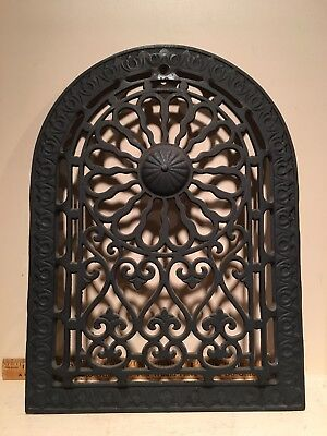 Ornate Arched Top Cast Iron Furnace Grate Register Architectural Salvage