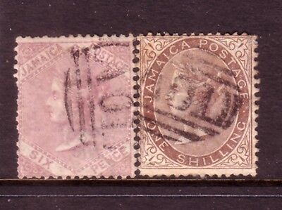 JAMAICA....  1860  1s brown used