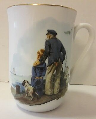 Norman Rockwell Mug Looking Out To Sea Certified Authentic 1986 The Museum