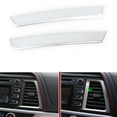 2PCS ABS Center Control Outlet Strips Paillette For Toyota Highlander 2016
