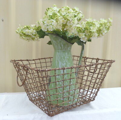 Old~Antique~Vintage~French~Country~Cottage~Wire~Potato~Basket
