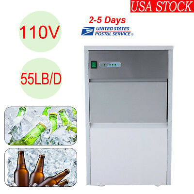 Built-In Commercial Ice Cube Maker Machine Restaurant 55lb/Day Stainless Steel