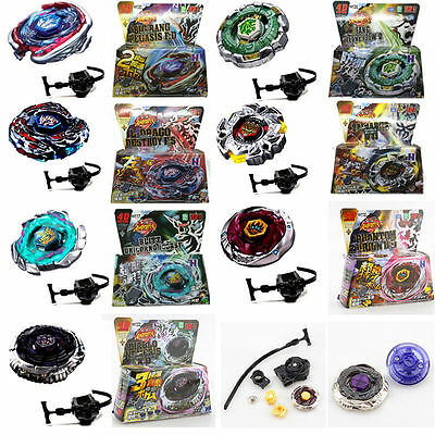Rare Beyblade Fusion Top Metal Fight Master 4D Rapidity Launcher Set Kids Toy