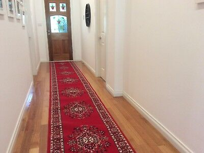 Hallway Runner Hall Runner Rug Traditional Medallion Red 5 Metres Long 231