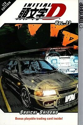 Initial D Vol 11 GN action manga English lang ltd ed bonus playable trading card