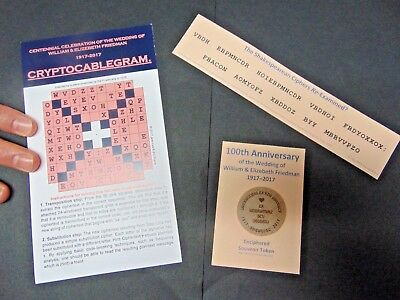 Elizebeth & William Friedman wedding anniversary crypto-souvenirs (cryptograms)