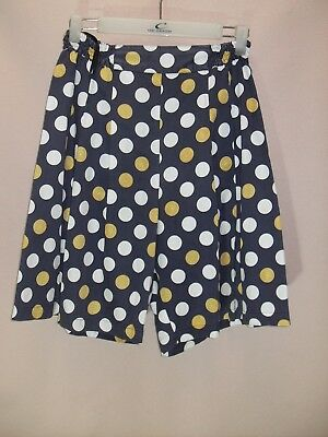 1980's Vintage High Waisted Designer Shorts with 1/2 Shirred Waistband.