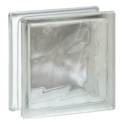 """7.75"""" x 7.75"""" x 3.12"""" Wave Pattern Glass Block 10 Pack 1.89 RValue In Or Outside"""