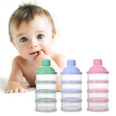 Portable Baby Infant Feeding Milk Powder Food Bottle Container 4 Cells Grid Box