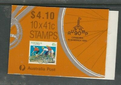 Australia Exhibition Booklet 41c Cycling Austamp 90 Canberra