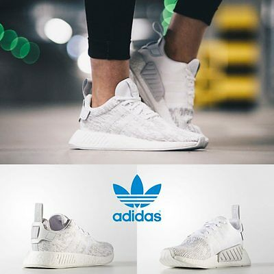 new arrival 44db9 b859d ADIDAS UNISEX ORIGINAL NMD R2 Runner White White Grey BY8691 Size 4-11  Limited