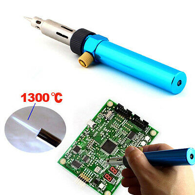 Gas Blow Torch Soldering Solder Iron Gun Butane Cordless Welding Pen Burner R