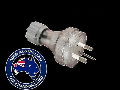(3pcs) Plug Top: Clipsal 439S (Clear) 250VAC 10 Amp - AU 3pin Straight Entry