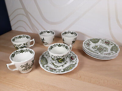 Authentique service 5 tasses porcelaine Anglaise Ridgway staffordshire windsor