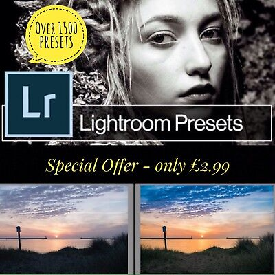 1500 Photo Presets for Lightroom - immediate Delivery - Get Yours Today!!!