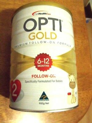 OPTI GOLD FOLLOW-ON 6-12 month  Premium Nutrition Milk Drink 900g FREE SHIP Aus