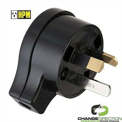 (3pcs) Plug Top: HPM 106/1BL-240VAC 10 Amp - AU 3pin Side Entry
