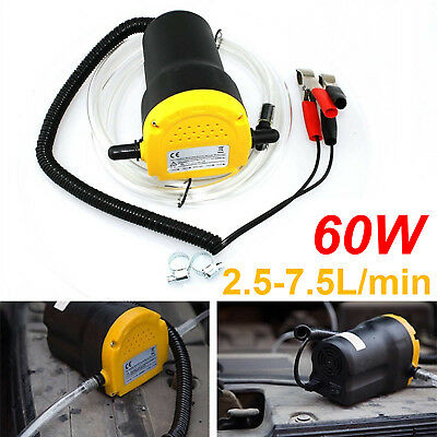 12V Oil Diesel Extractor Suction Pump Transfer Fluid Change Heavy Duty Car Boat