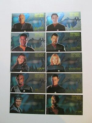 Star Trek First Contact CHARACTER trading card Set