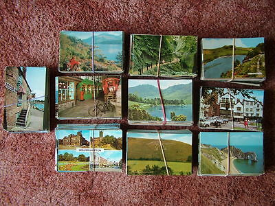 Box / Bulk Lot of 1,000 UNUSED Standard Size UNITED KINGDOM Postcards. 1960s-80s