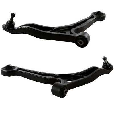 Pair (2) Front Lower Control Arms With Ball Joints With Lifetime Warranty