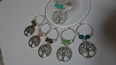 Wine Glass Charm - Set of 6 - Tree of Life