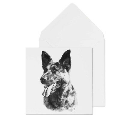 Mike Sibley German Shepherd 2  Dog Breed Blank Greeting Card  for all occasions