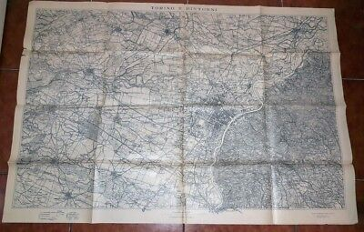 map geographical map military military map 1921 TURIN AND SURROUNDINGS 1:25000