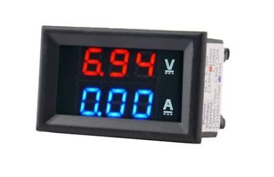 Digital LED 100V Voltmeter,  10A Ammeter, Panel mount volt amp , meter