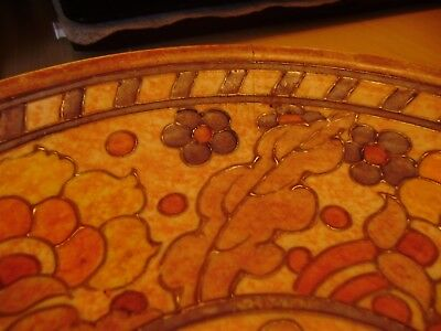 Rare Large Charger By Charlotte Rhead Byzantine Crown Ducal Signed 12 Half Inch