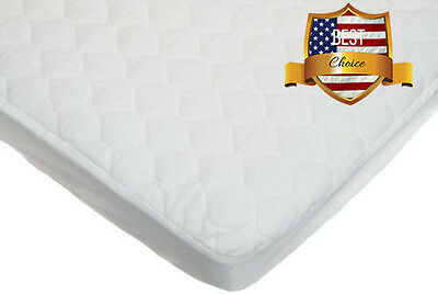 American Baby Cradle Mattress Cover Waterproof Fitted Protective Quilted Pad NEW