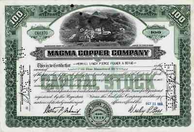 Magma Copper Company 1955 Maine Superior Webster Newmont Mining Ely Nevada 100