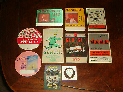 Rare LOT OF 11 GENESIS + PETER GABRIEL CONCERT MEMORABILIA - BACKSTAGE PASSES
