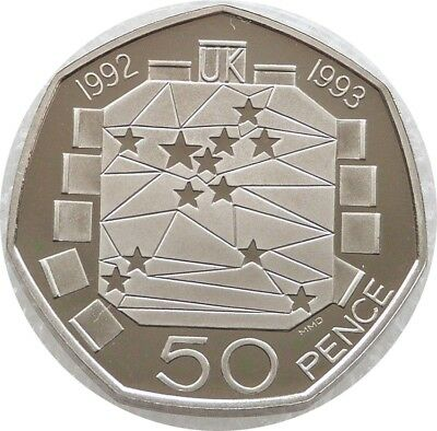 1992 - 1993 Royal Mint European Presidency 50p Fifty Pence Proof Coin