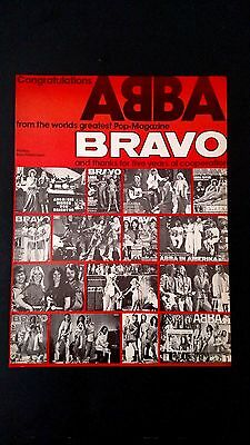 Abba Congrats From The Worlds Greatest Mag.rare Original Print Promo Poster Ad