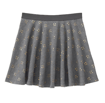 NWT Gymboree TAILS OF THE CITY Gray Gold Kitty Swing Skirt NEW