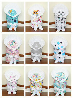 Baby newborn wrap + small flat pillow/pink/blue/purple/must have it/swadle