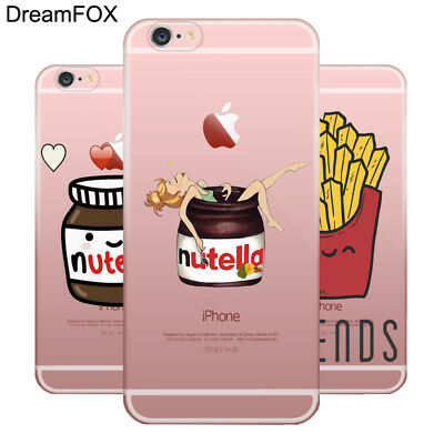 NUTELLA CHOCOLATE Soft TPU Silicone Case for Apple IPhone 5S 6 6S 7 8 Plus X