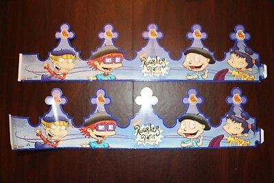 Rugrats in Paris /Burger King/Nickelondian Kids Meal 2 Crowns Yr 2000 Unpunched