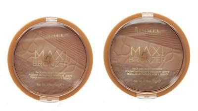 Rimmel Large Maxi Bronzer Face & Body Bronzing Powder - Choose Your Shade - 22g