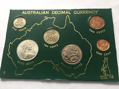1966 AUSTRALIAN DECIMAL CURRENCY FIRST ISSUE  (6) COIN Set AUSTRALIA silver coin